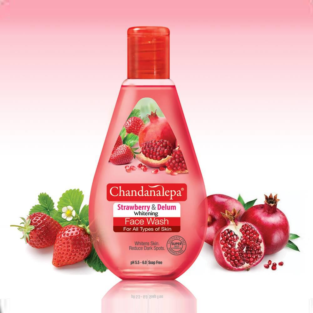 All - FACE WASH Strawberry & Pomegranate Whitening 100ml