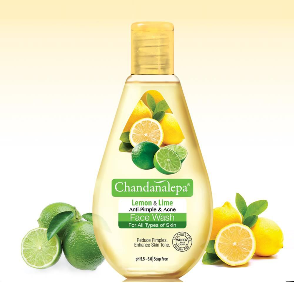 All - FACE WASH Lemon And Lime Anti Acne & Pimple 50ml - Chandanal
