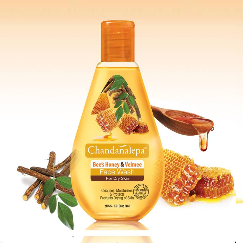 All - FACE WASH Bee's Honey & Valmee 50ml - Chandanalepa