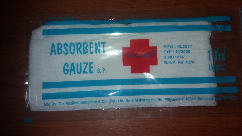 Cotton wool & sergicals - Tas Med Absorbent Gauze i 1 Yrd