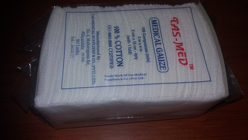 Cotton wool & sergicals - Tas Med Medical Gauze 5cm x 10cm 4ply - 100 compresses