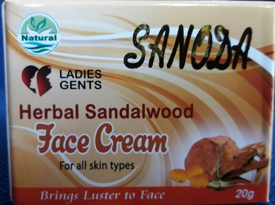 All - SANDUN FACE CREAM - SANODA 20G