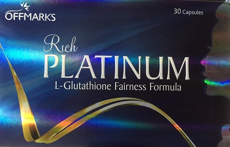 All - RICH PLATINUM  L-GLUTATHIONE FAINESS  FORMULA 30caps OFFMARK