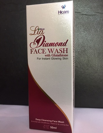 All - LIA DIAMOND FACE WASH -SPF-15 50ML