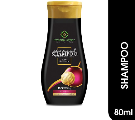 All - Swabha Ceylon Natural Black Shine Shampoo 80ml