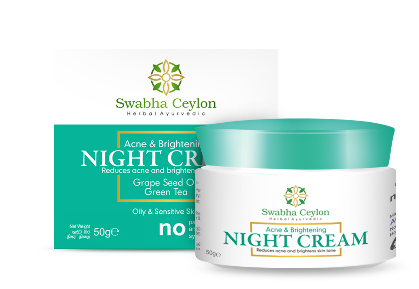 All - SWABHA CEYLON ACNE AND BRIGHTENING NIGHT CREAM 50G