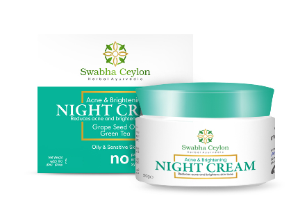 All - SWABHA CEYLON ACNE AND BRIGHTENING NIGHT CREAM 25G